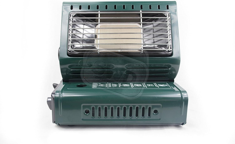 2-en-1 Portable Gas butano calentador y cocina