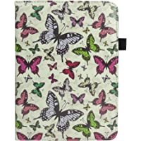 Emartbuy Smart 360 Degree Rotating Stand Wallet Case Cover for Samsung Galaxy Tab E SM-T561 : Size (9-10 Inch) - Multi Butterfly