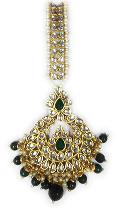 5b3df6ee20 Buy Necklace artificial fancy jewellery necklace with matching earrings  wedding & party wear kundan work set Online at Low Prices in India - Amazon. in