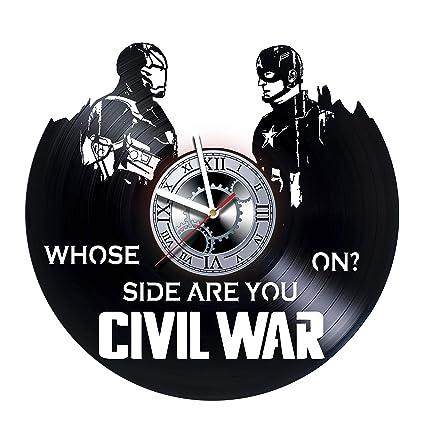 Amazon Com Civil War Iron Man Captain America Handmade Vinyl