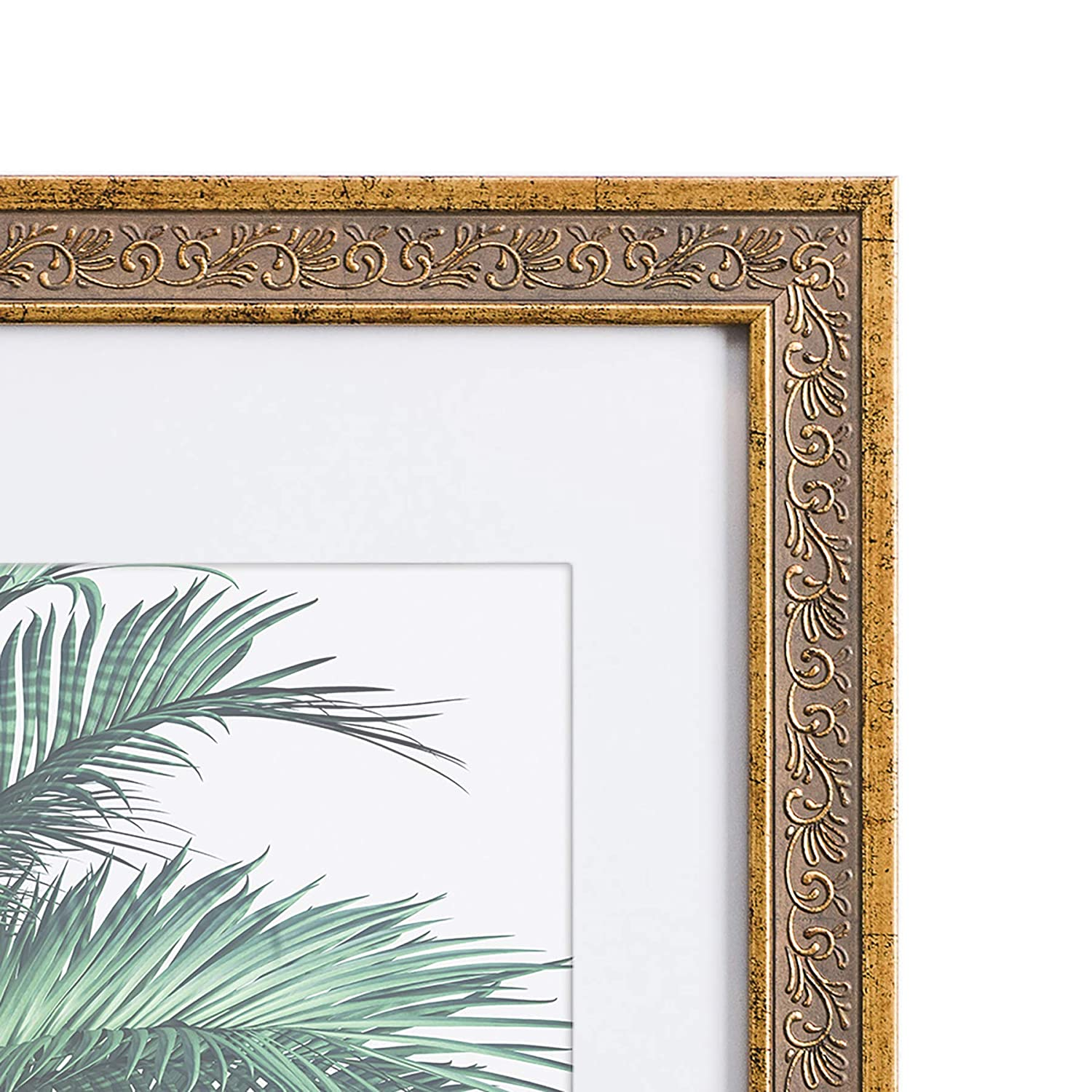 Matted to 8x10 11x14 Picture Frame Antique Gold Frames by EcoHome