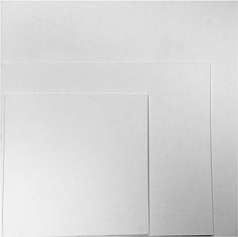 Quickdraw Lienzo en Blanco Tablas Algodón Pato Gesso Cebada 280g para Acrílico & Pintura Al Óleo - Blanco, 20 x 20cm: Amazon.es: Hogar