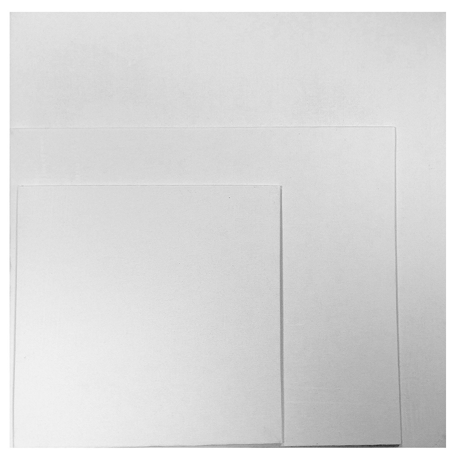 Artists Blank Canvas Boards Cotton Duck Gesso Primed 280g for Acrylic & Oil Painting (20 x 20cm) Quickdraw
