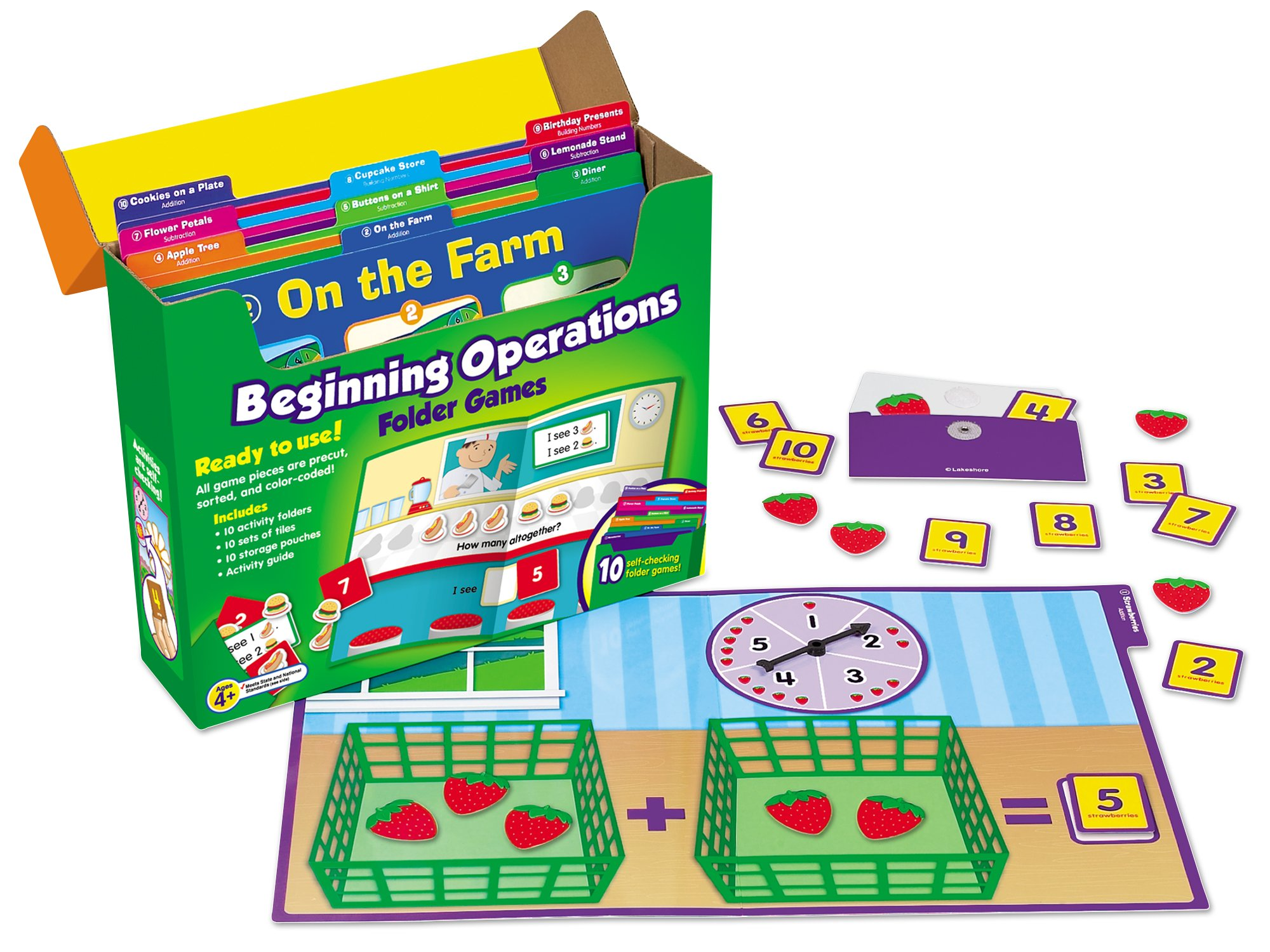 Lakeshore Early Math File Folder Game Libraries - Pre K-K - Complete Set by Lakeshore Learning Materials (Image #3)