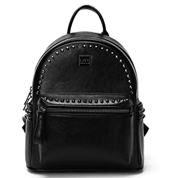 694dac8b6585 Mini Black Leather Backpack Small Backpack Purse Cute Mini Backpack Purse  For Women Black Leather Purse
