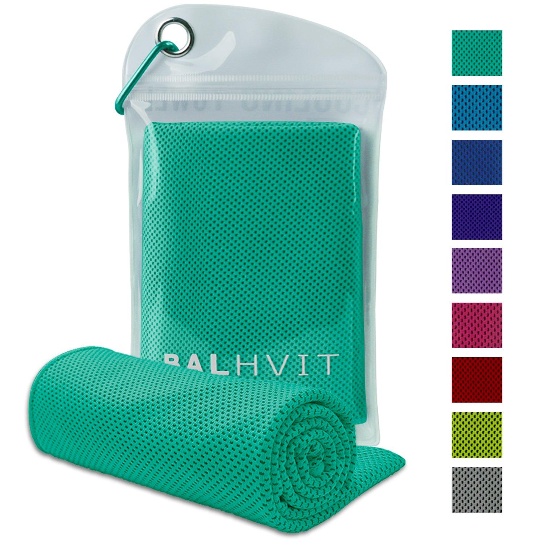 Balhvit冷却タオル、アイスタオル、インスタント冷却リリーフのためのマイクロファイバータオル、ヨガビーチゴルフ旅行のためのクールな冷たいタオルジム、スイミングネックとしてのキャンプ、ヘッドバンド(ミントグリーン、47 * 14インチ)   B07FCMGZRM