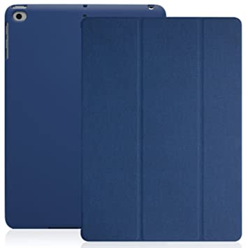 KHOMO Funda iPad Air 1 - Carcasa Azul Oscura Protectora Ultra Delgada y Ligéra con Smart Cover y Soporte para Apple iPad Air 1 - Azul Oscuro