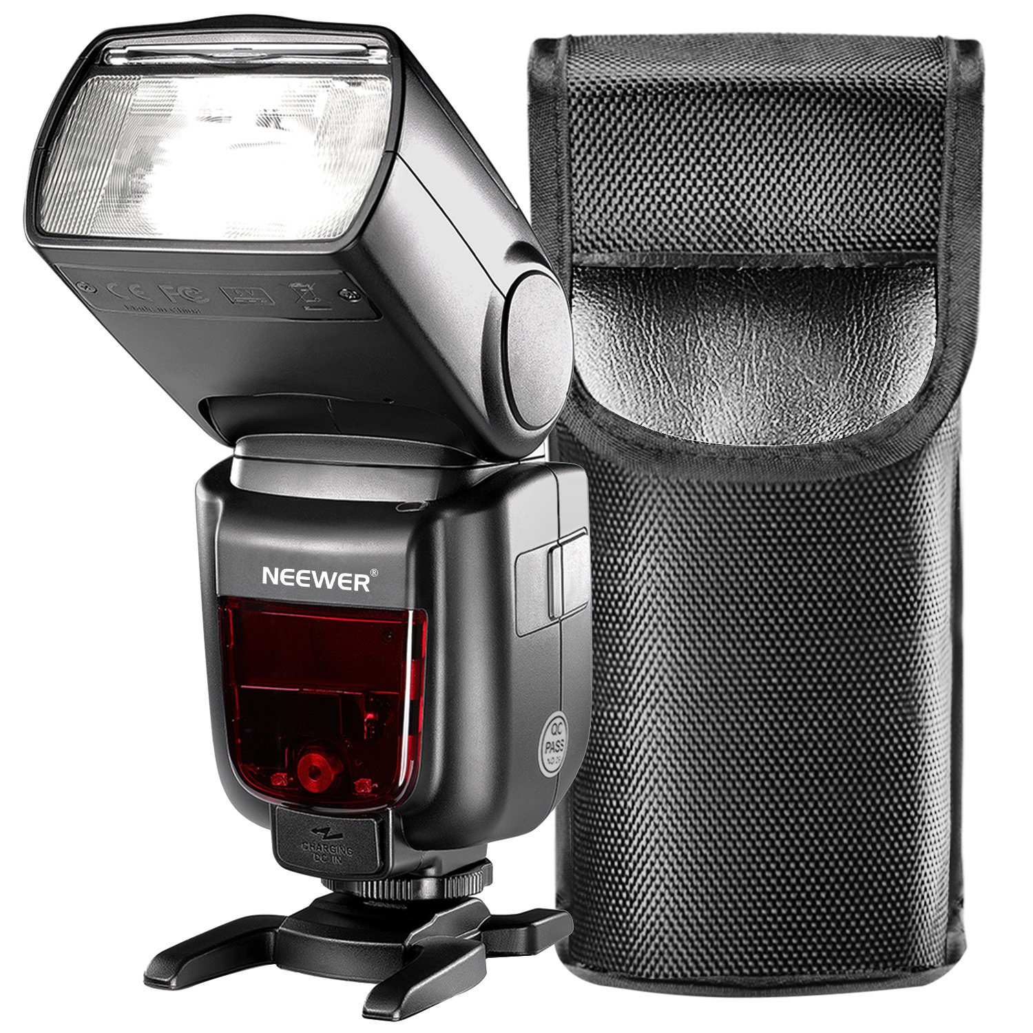 Neewer GN60 2.4G Manual HSS Master Slave Flash Speedlite for Sony A7 A7S A7SII A7R A7RII A7II A6000 A6300 A6500 A77II A58 A99 Cameras with New Mi Hot Shoe (NW865S) by Neewer