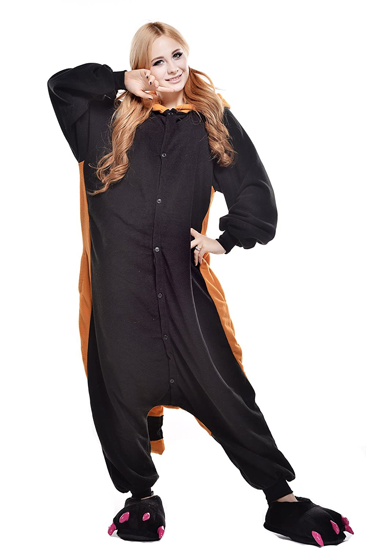 Amazon.com: Halloween Unisex Adult Cosplay Pajamas OnePiece Pyjamas Raccoon Costume: Clothing