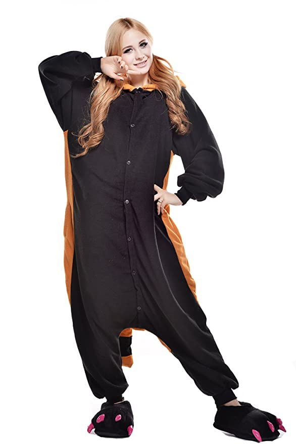 Amazon.com: SWEETXIN Halloween Racoon Unisex Adult Cosplay Pyjamas Animals Costumes: Clothing
