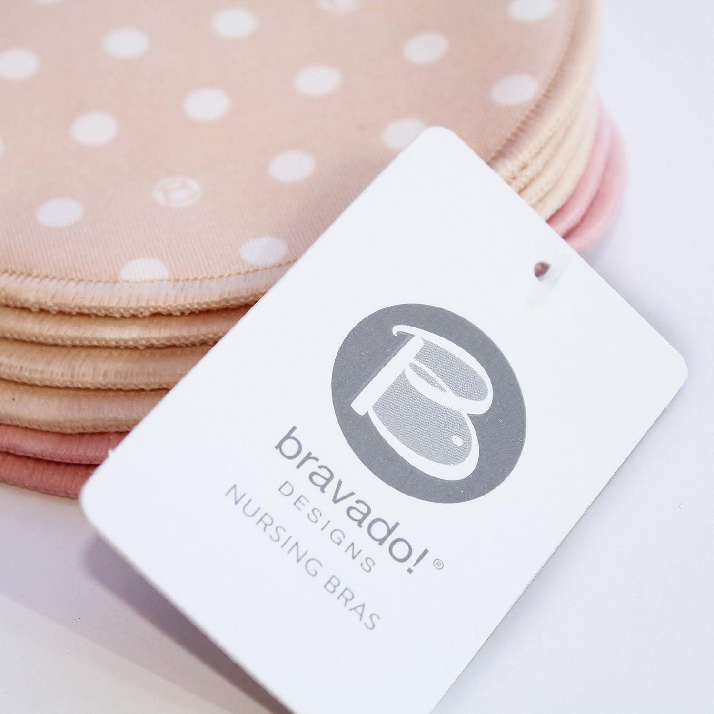 Designs Lot de 3 coussinets dallaitement lavables et r/éutilisables pour femme BRAVADO