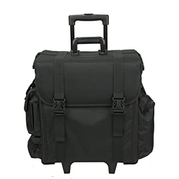 a1c4fca67b89 Hiker Professional Carry On Soft Sided Makeup Rolling Case, Nylon Black