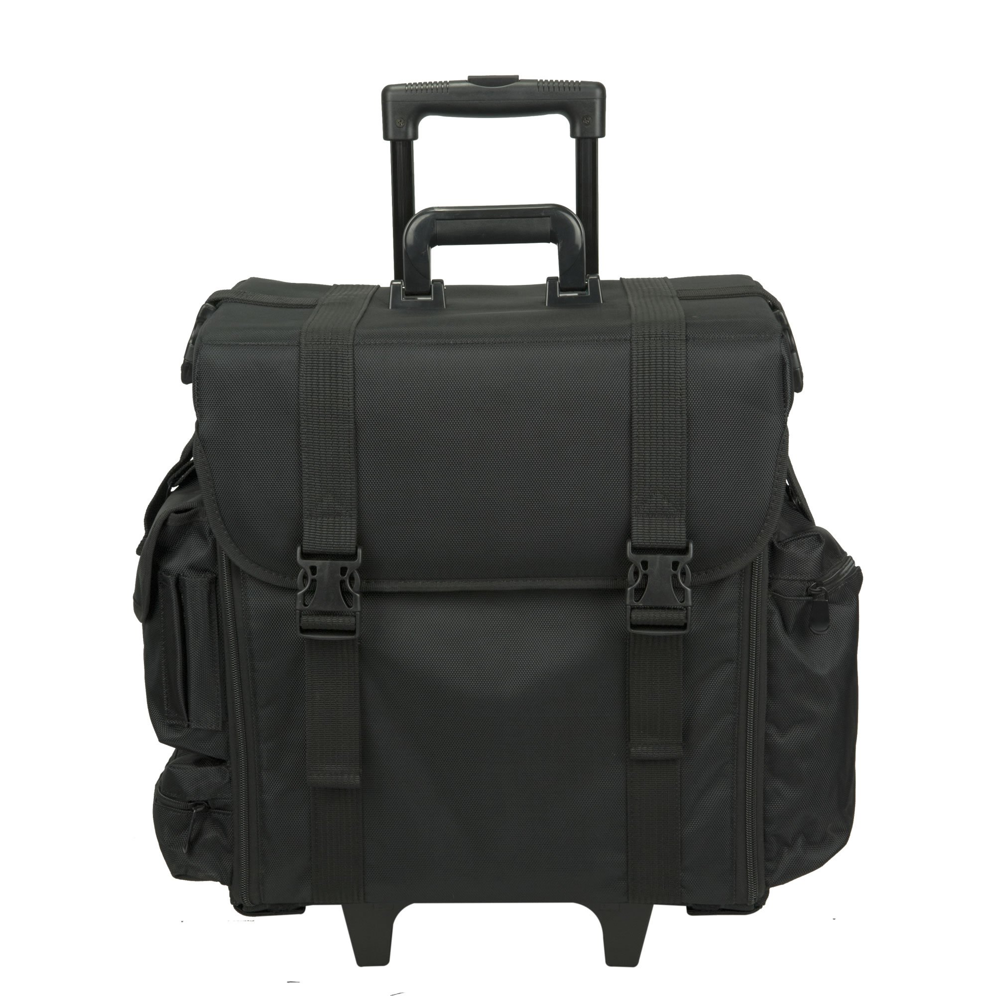 Hiker Professional Carry On Soft Sided Makeup Rolling Case, Nylon Black by Hiker