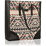 Kleio Womens Tote Shopping Hand Bag Jacquard Fabric With Faux Leather