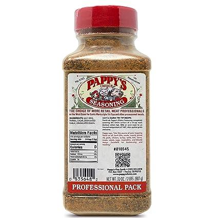Amazon Com Pappy S Choice Seasonings Original Perfect For Bbq And Smoked Brisket Steak Beef Chicken Fajita Hogs Rib Seafood Bagel Popcorn Jerk Pizza And More Gourmet Rubs Grocery Gourmet Food