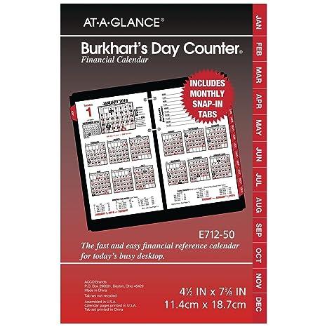 Calendar Day Counter 2019 Amazon.: AT A GLANCE 2019 Daily Desk Calendar Refill, 4 1/2