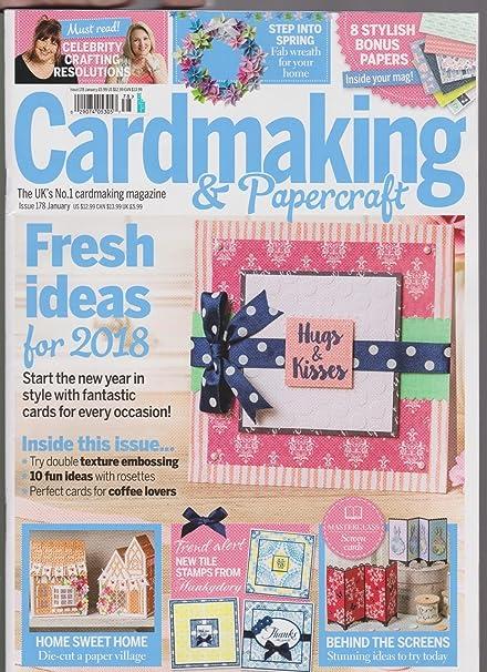 Amazon Cardmaking Papercraft Magazine 8 Stylish Bonus Papers