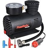 PowRyte Basic Mini Tire Inflator - 12-Volt Portable Auto Air Compressor with Dial Gauge
