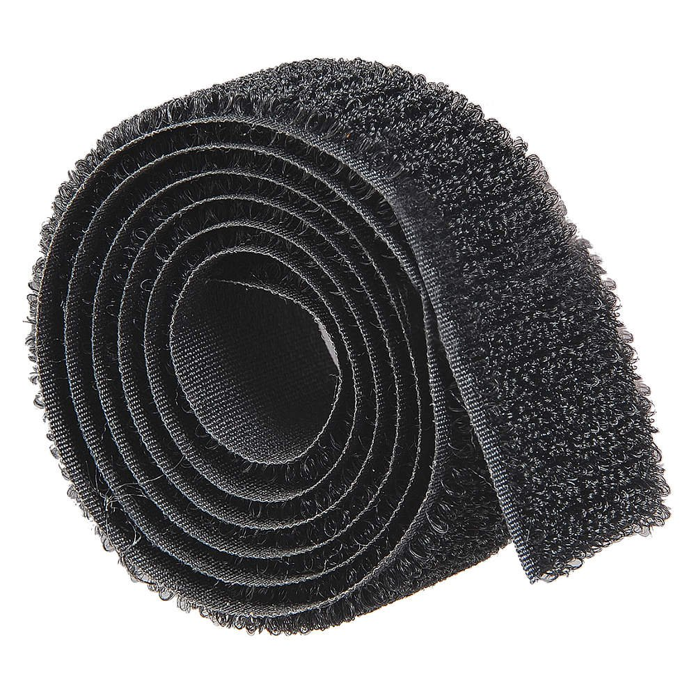 "1/"" Velcro Loop Black Tape Polyester Sew On 1 Roll 50 yard roll"