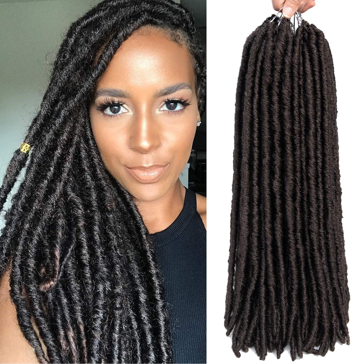 Amazoncom 6 Packslot Dreadlocks Crochet Braids Soft Faux Locs