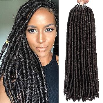 d404a056c 6 Packs/lot Dreadlocks Crochet Braids Soft Faux Locs Crochet Hair Synthetic Braiding  Hair Bomba