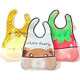 Baby Bibs Waterproof Open Pocket 3-pack Light Easy Clean - Get Goolly Bibs Now!