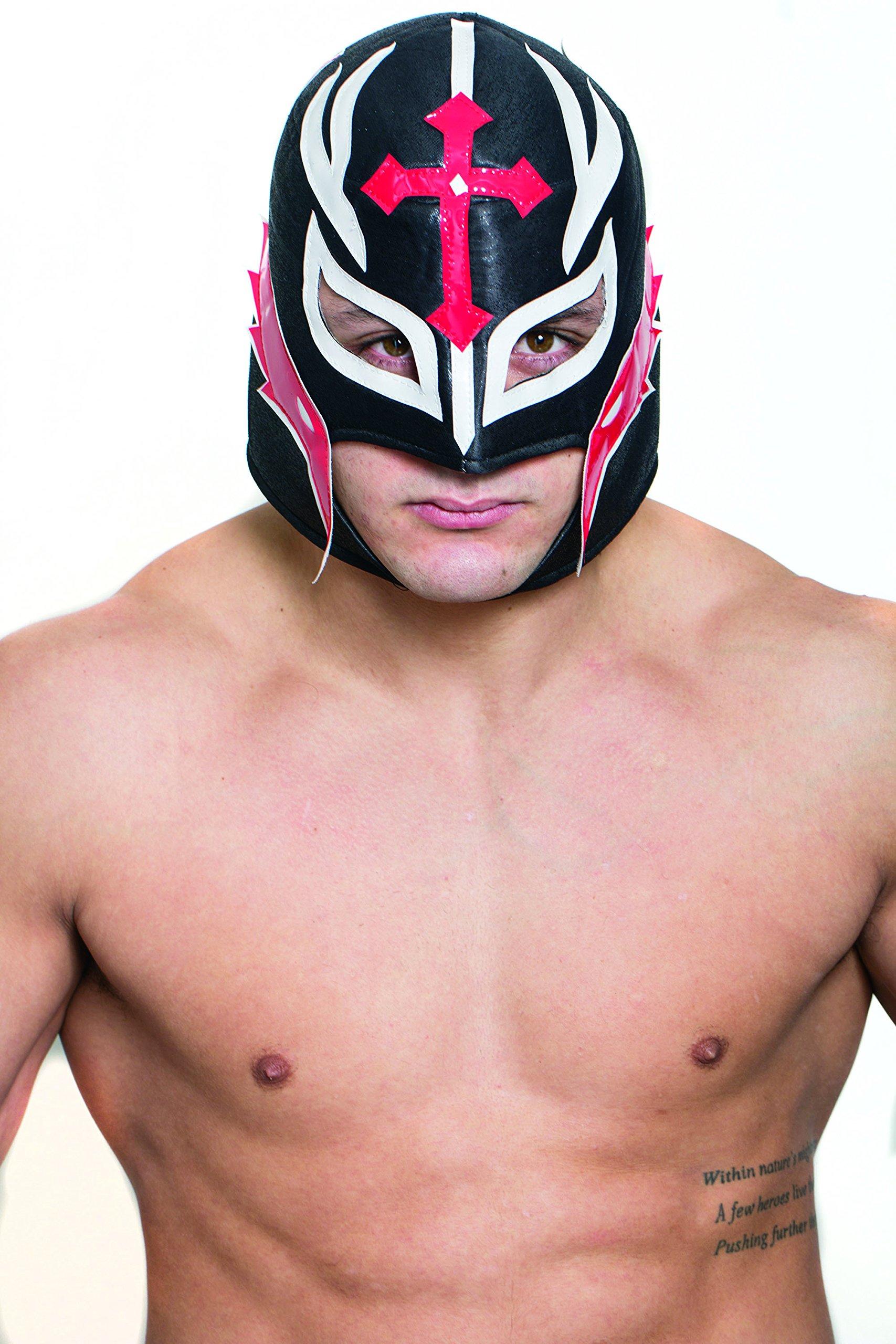 HMS Men's Mexican Wrestling Mask, Black, One Size