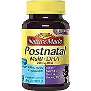 Nature Made Postnatal Multi-Vitamin Plus DHA Softgels, 60 Count
