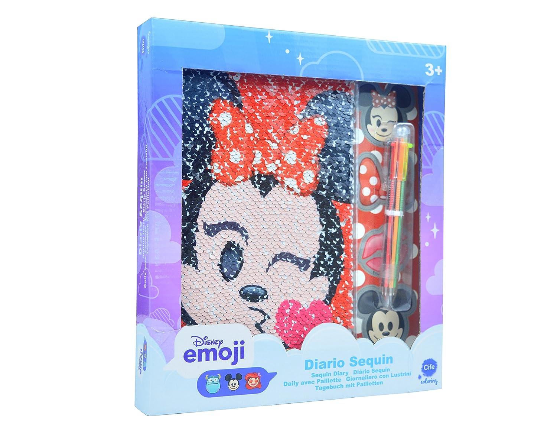 Disney Emoji - Diario Sequin con Lentejuelas Reversibles (Cife 41286)