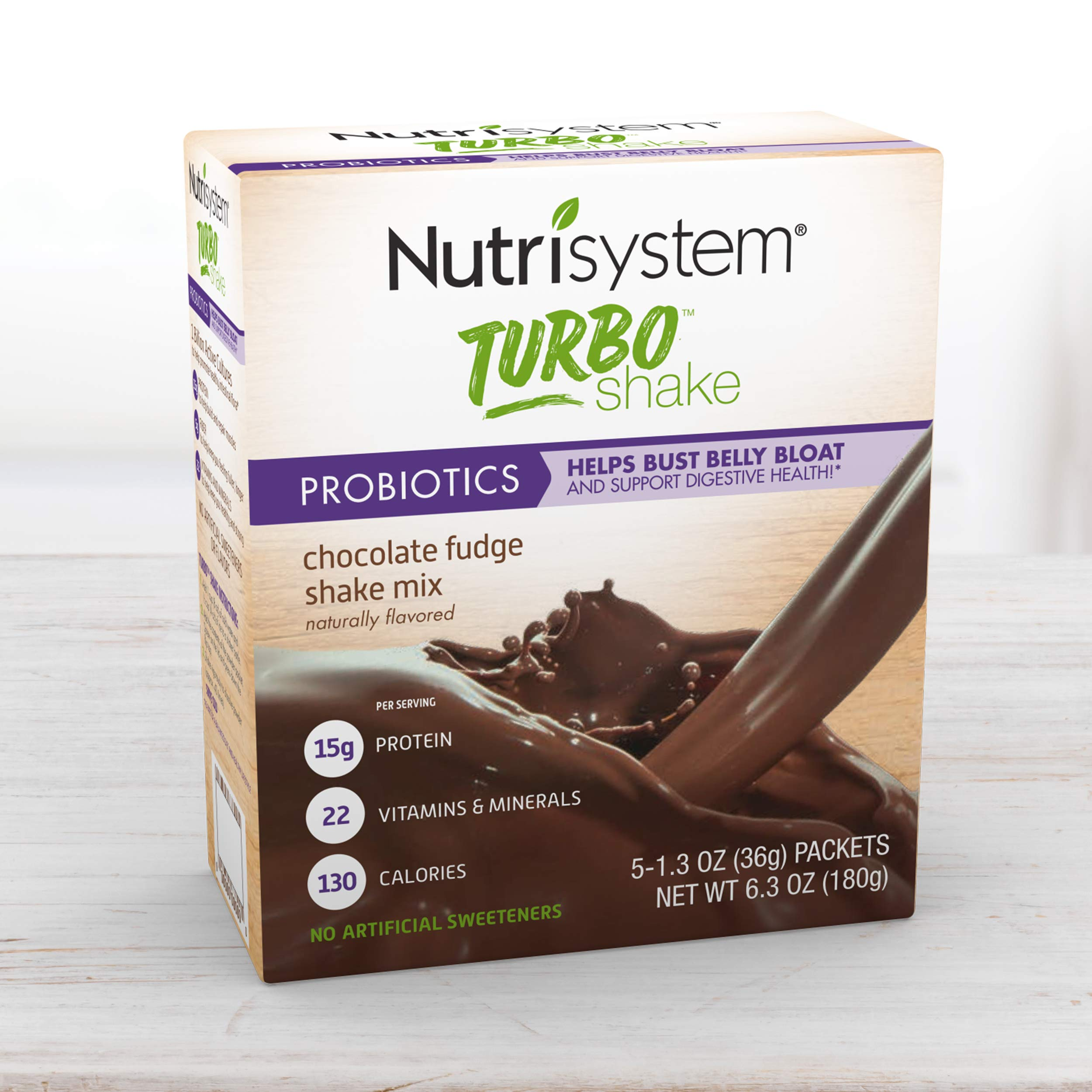 Nutrisystem® Turbo Shake Chocolate Fudge Probiotic, 20 ct by Nutrisystem