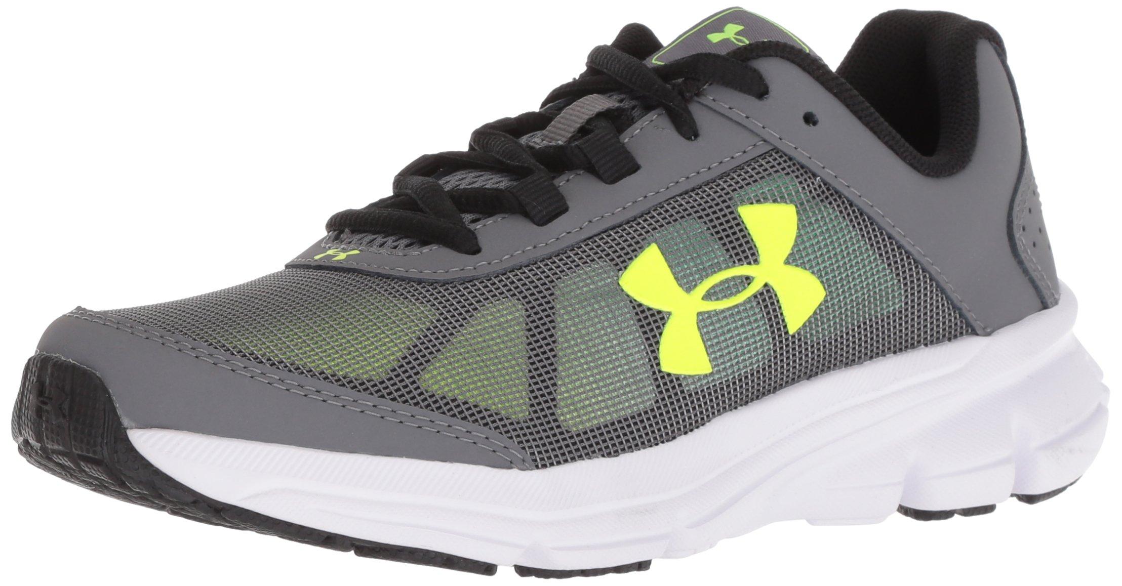 Under Armour Kids' Grade School Rave 2 Sneaker,Graphite (102)/White,5.5 M US