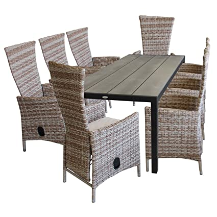 Amazon De 9tlg Gartenmobel Set Aluminium Polywood Gartentisch