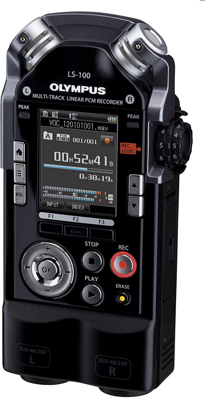 Olympus Ls 100 Multi Track Linear Pcm Recorder 2 Xlr Jack Combination Sockets Sdxc Card Slot 24bit 96khz 4gb Internal Memory