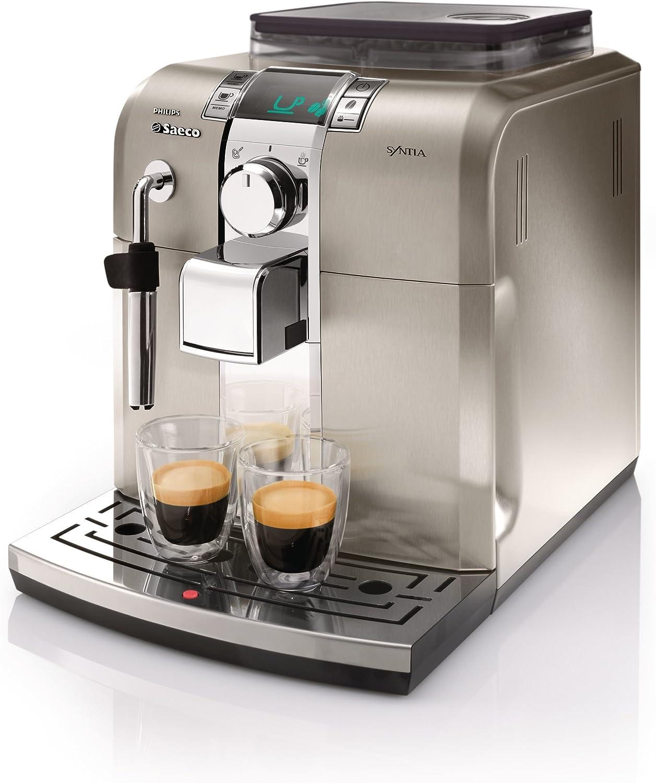 Saeco Syntia HD8837/47 - Cafetera (Máquina espresso, 1,2 L, Granos de café, Molinillo integrado, 1400 W, Acero inoxidable): Amazon.es: Hogar