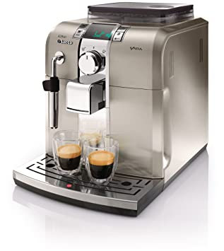 Saeco Syntia HD8837/04 Independiente Totalmente automática Máquina espresso 1.2L Acero inoxidable - Cafetera