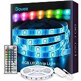 Govee Tiras LED, Luces LED RGB 5m con Control Remoto y Caja de Control, 20 Colores y 8 Modos de Escena para la…