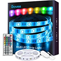 Govee Tiras LED, Luces LED RGB 5m con Control Remoto y Caja de Control, 20 Colores y 6 Modos de Escena para la…
