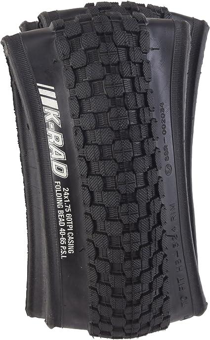 "Kenda Tire K905 24X1.75/"" K-Rad Black PAIR of Tires AND Tubes"
