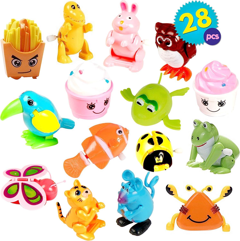 THE TWIDDLERS Juego De 28 Surtida Wind Up Juguetes En 14 Diseños Distintos | Rellenos para Bolsas De Piñatas, Detalles Fiesta, Recompensas Clase | Halloween Regalos Niño Piñata Fiesta