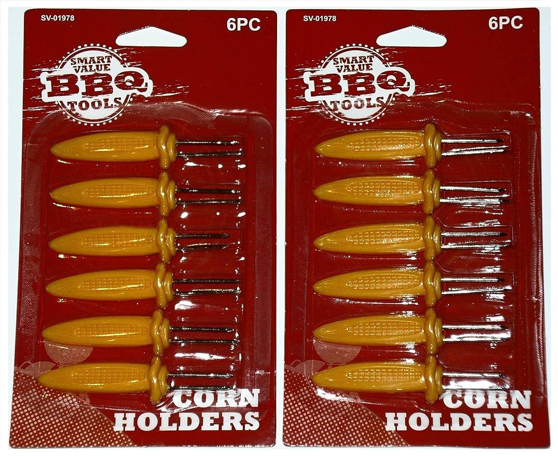 Smart Value Large Corn Holders Skewers 12-Pack
