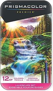 Prismacolor Premier Colored Pencils, Soft Core, Landscape Set, 12 Count