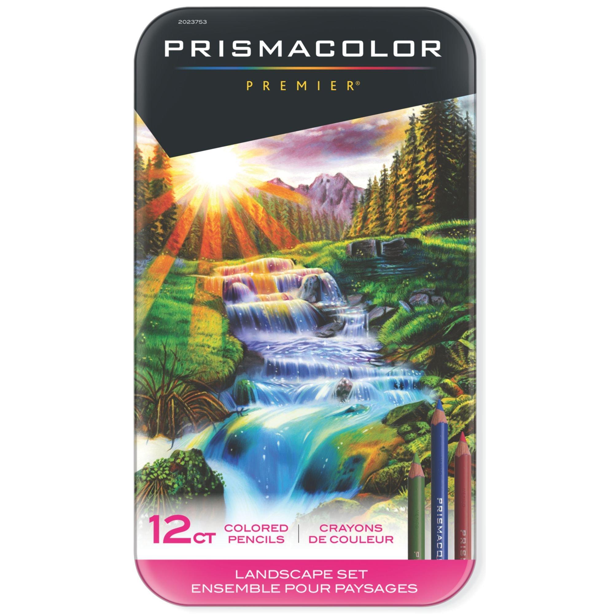 Prismacolor Premier Colored Pencils, Soft Core, Landscape Set, 12 Count by PRISMACOLOR