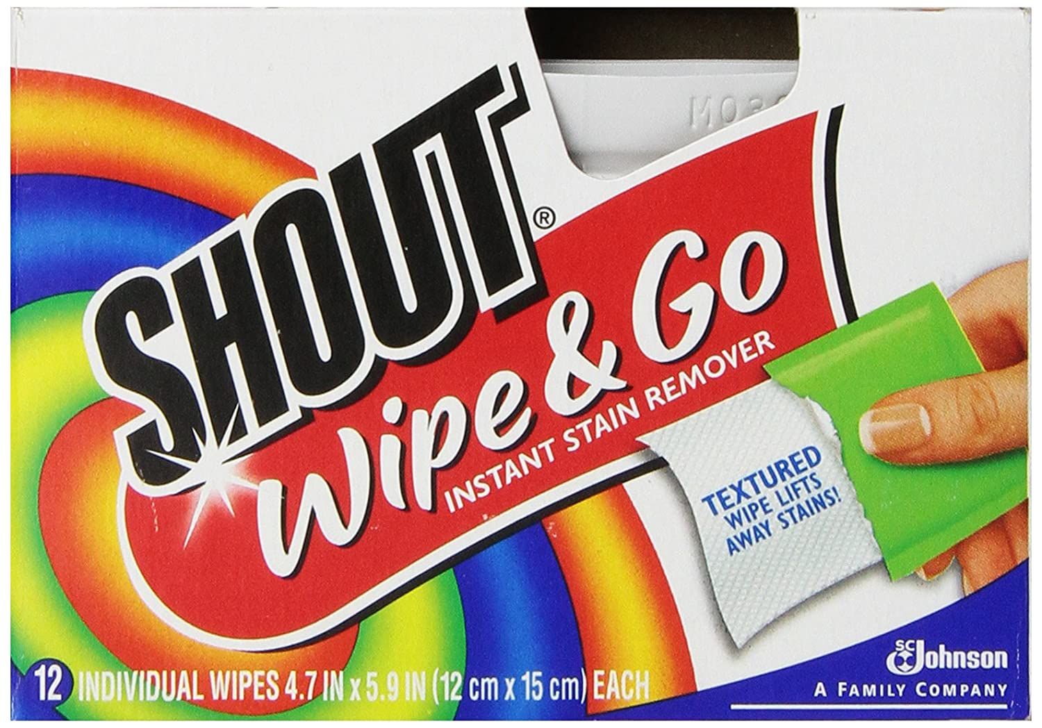 Shout Wipes, 12-Count (Pack of 12)