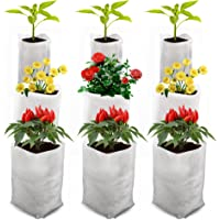 Cizen 300 Piezas Bolsas de Cultivo, Bolsas de Vivero Biodegradable No Tejido, Adecuado para la Plantación de Flores…