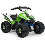 INJUSA Quad Kawasaki ATV, Stable et résistante de Batterie 12V avec Bandes en Caoutchouc en Les Roues (66055)
