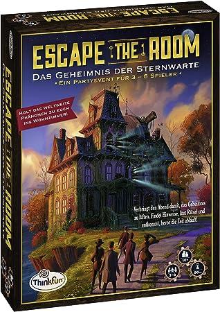 ThinkFun Escape The Room Niños y Adultos Party Board Game - Juego de Tablero (Party Board Game, Niños y Adultos, 90 min, Niño/niña, 10 año(s), Interior): Amazon.es: Juguetes y juegos