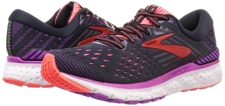 Womens Girls Brooks Transcend 4 B Medium Running Jogging Fitness Trainers Shoes