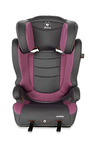 Diono Cambria Booster 2-in-1 Car Seat High Back and Backless Booster – Forward-Facing 40-120 Pounds – Overprotective in All the Right Ways, Raspberry