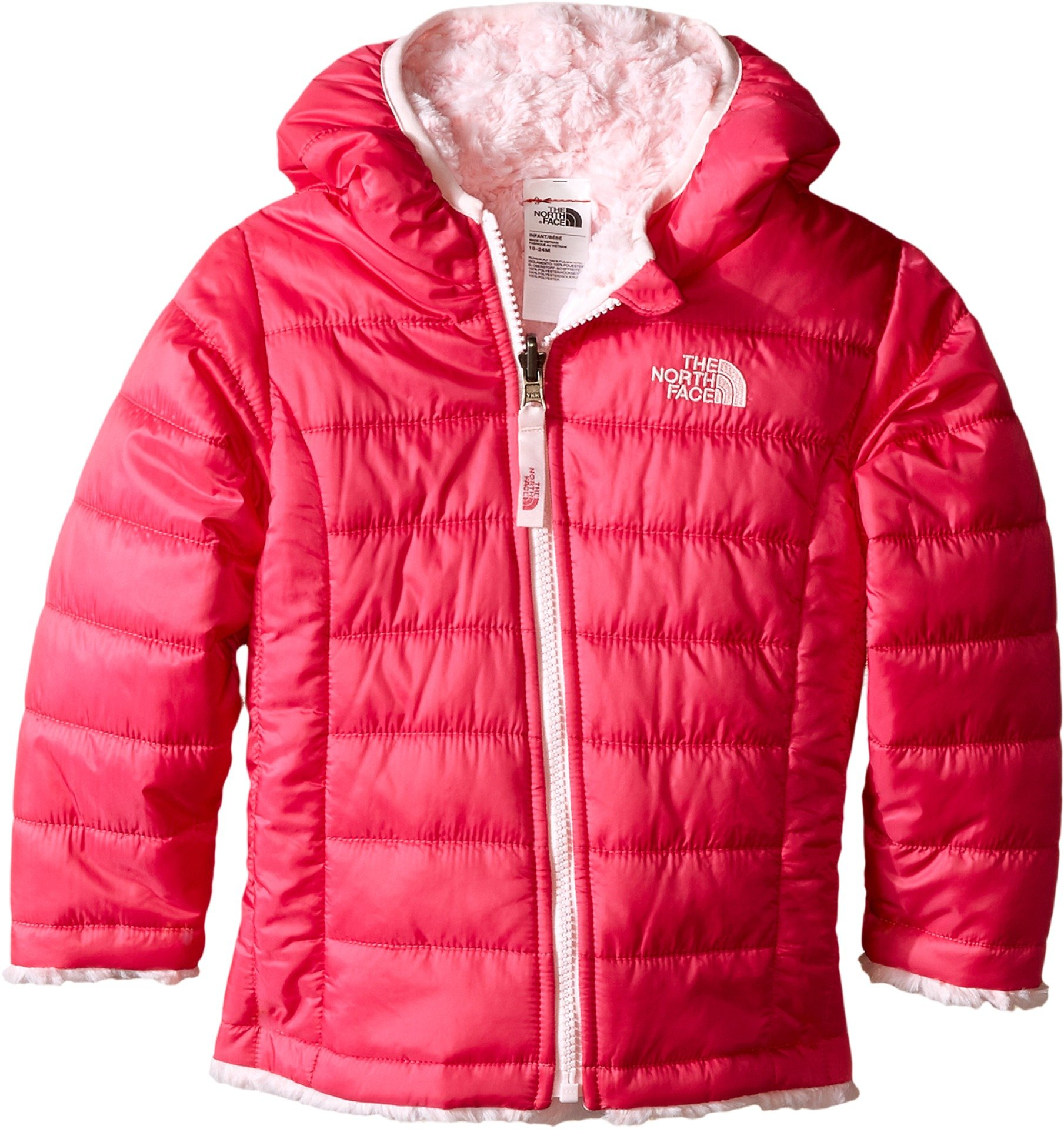 The North Face Kids Baby Girl's Reversible Mossbud Swirl Hoodie (Infant) Cabaret Pink (Prior Season) 0-3 Months by The North Face
