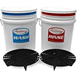Millaissolutions Car Detailing Valeters Wash and Rinse Two Bucket System - 20 litre Buckets